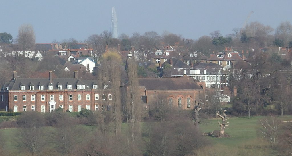 Kairos Centre viewed from Richmond Park