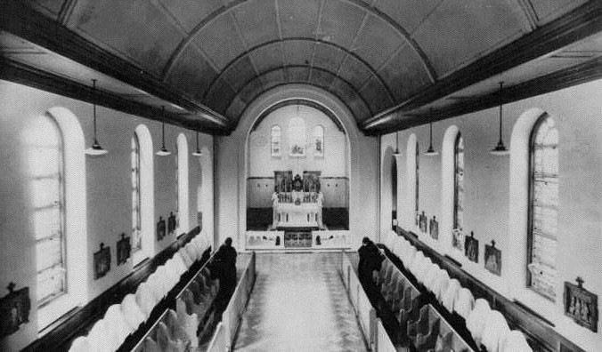 Interior of Church soon after building